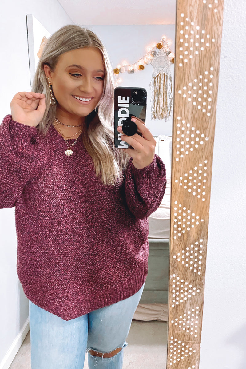 Tristen Two-Tone Knit Sweater - Madison and Mallory