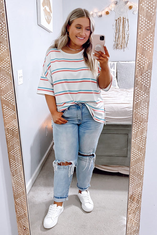 Jasper Striped Top - Off White - FINAL SALE - Madison and Mallory
