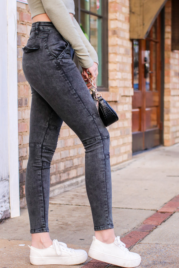 Trey Moto Skinny Jeans - Madison and Mallory