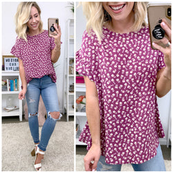 Keely Ruffled Floral Top - Madison + Mallory