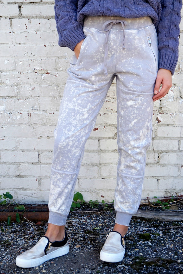S / Light Gray Mineral Washed Joggers - Madison + Mallory