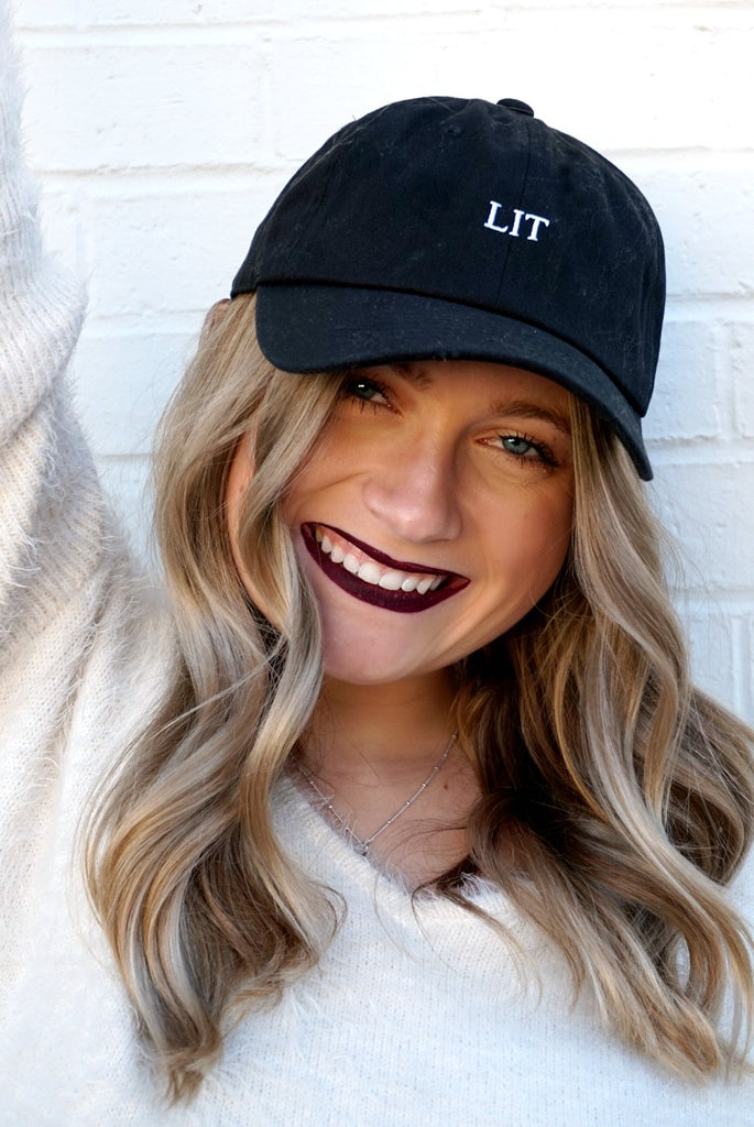 Black Lit Graphic Hat - Madison + Mallory