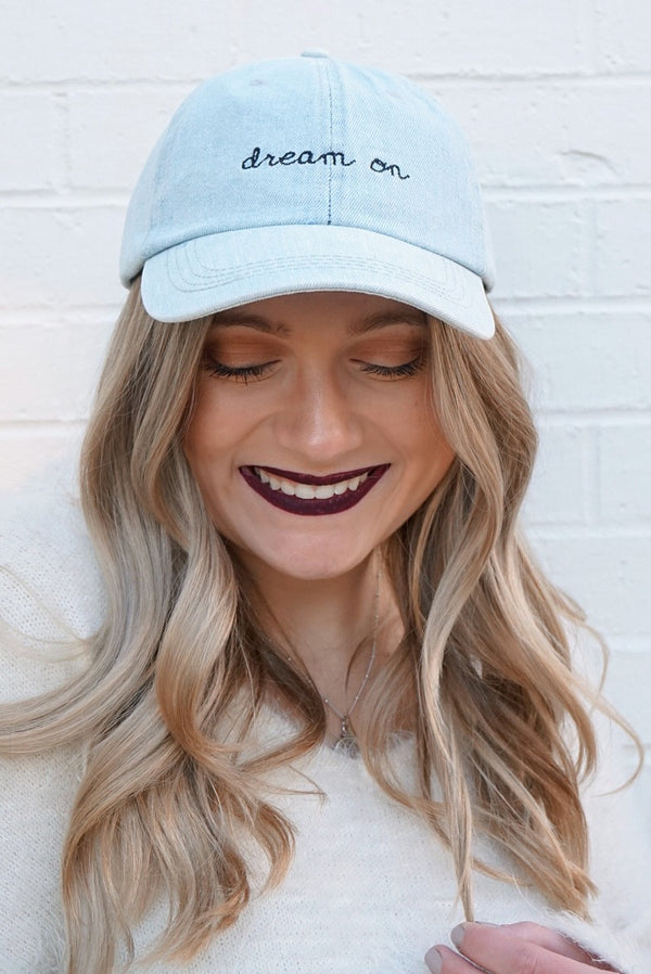 LightBlue Dream On Hat - Madison + Mallory