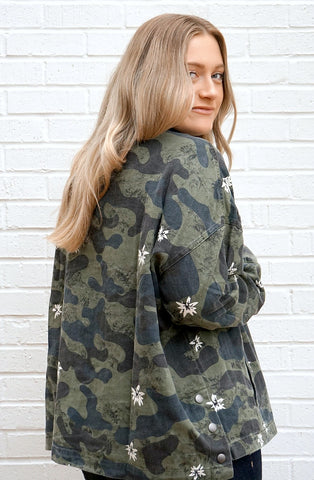 Floral Camo Jacket - Madison + Mallory