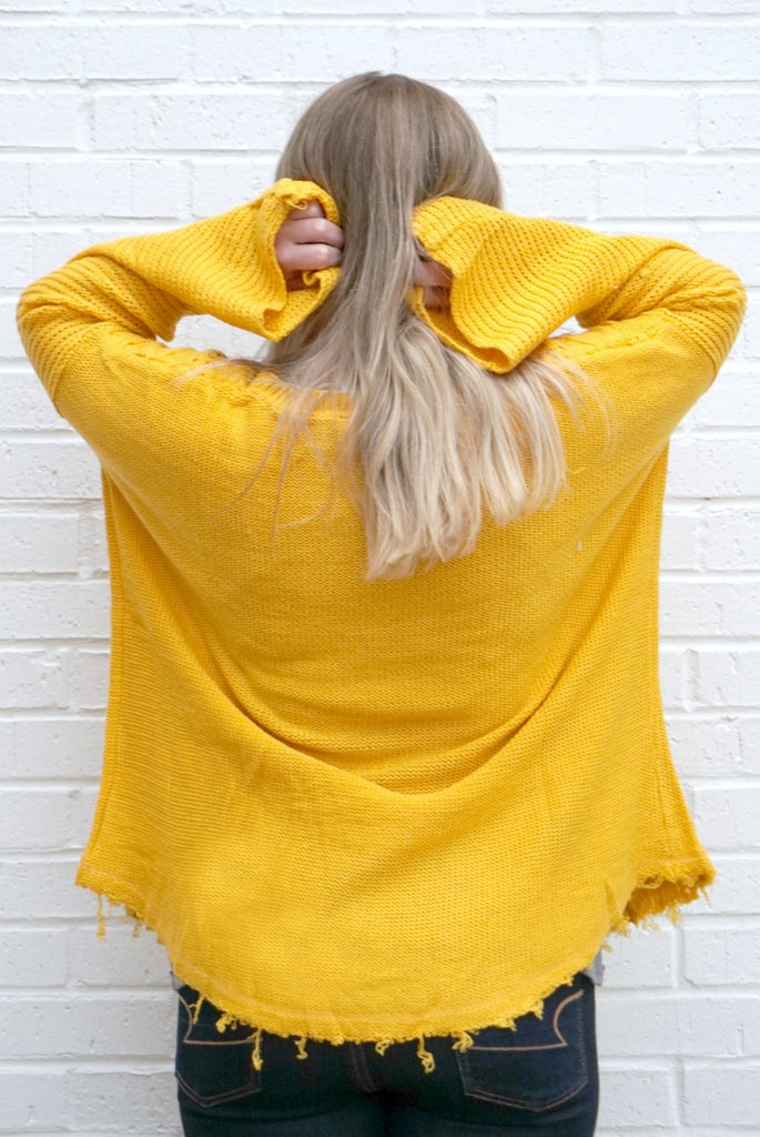 Cable Knit Bell Sleeve Sweater - Madison + Mallory