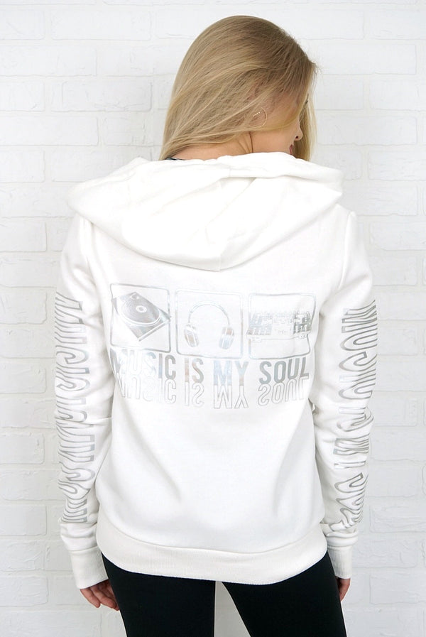 Music is My Soul Graphic Sweatshirt - Madison + Mallory