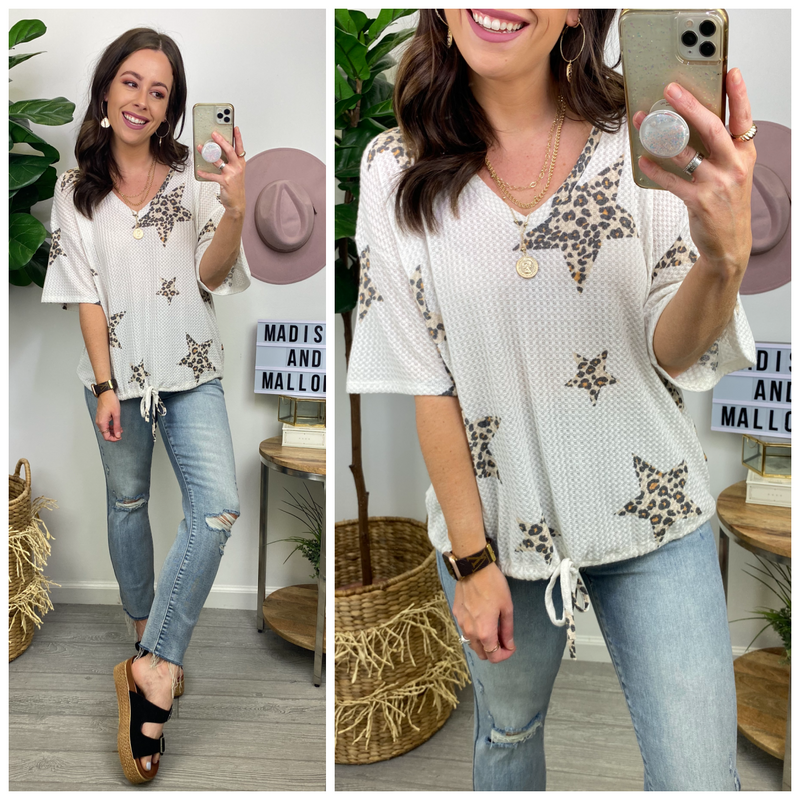 Lasting Trend Animal Star Print Top - Madison and Mallory