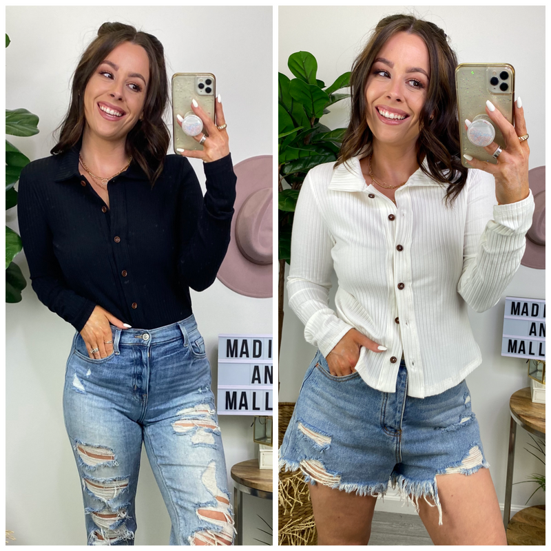 Leryn Button Down Top - Madison and Mallory
