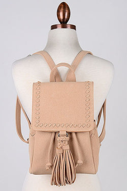 Whipstitch Tassel Backpack - Madison + Mallory