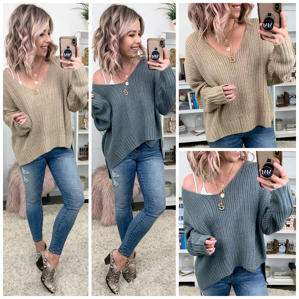 Make Time Relaxed Knit Sweater - Madison + Mallory