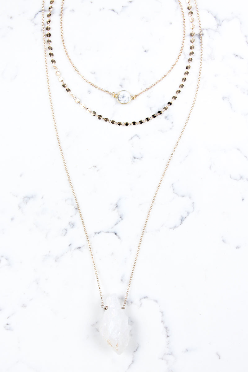 OS / Gold Marlee Layered 7 in 1 Necklace - Madison + Mallory