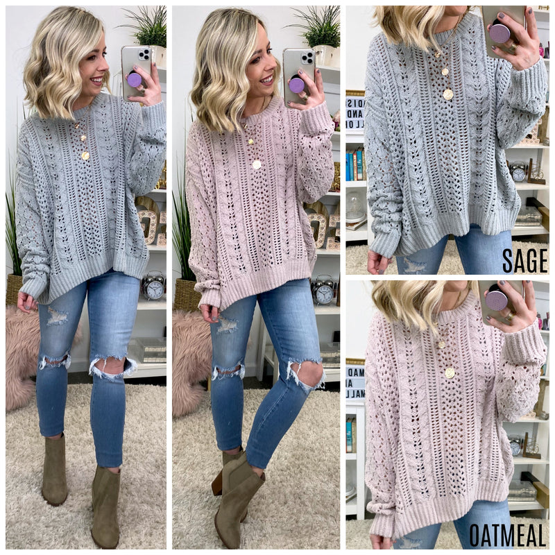 Masey Cable Knit Pullover - Madison + Mallory