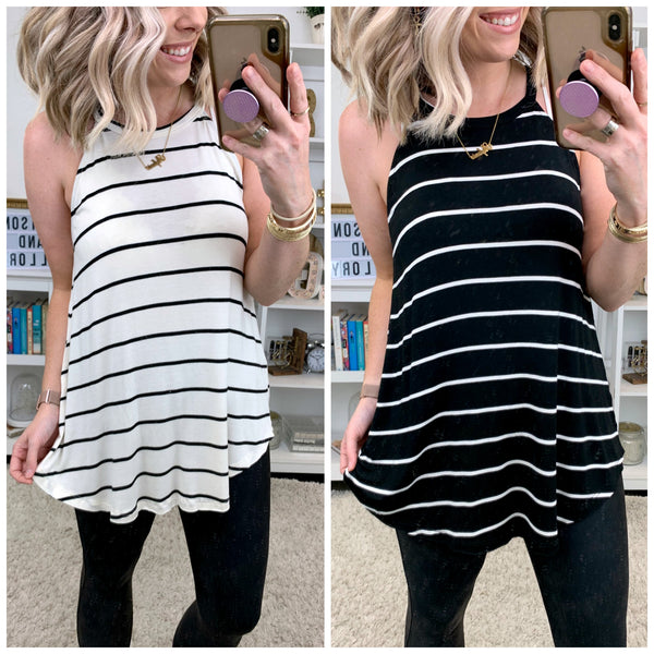 Milana Striped Flowy Top - Madison + Mallory