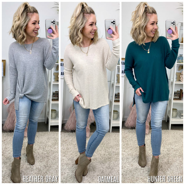 Novato Brushed Thermal Knit Top - Madison + Mallory