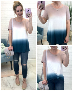 S / Blush Tie Dye Relaxed Fit Tee - Madison + Mallory