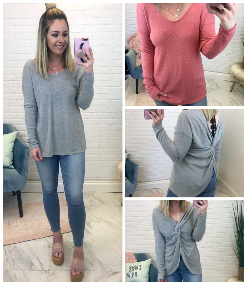 Twist Back Thermal Top - Madison + Mallory