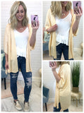 Peach / SM Open Front Knit Cardigan - Madison + Mallory