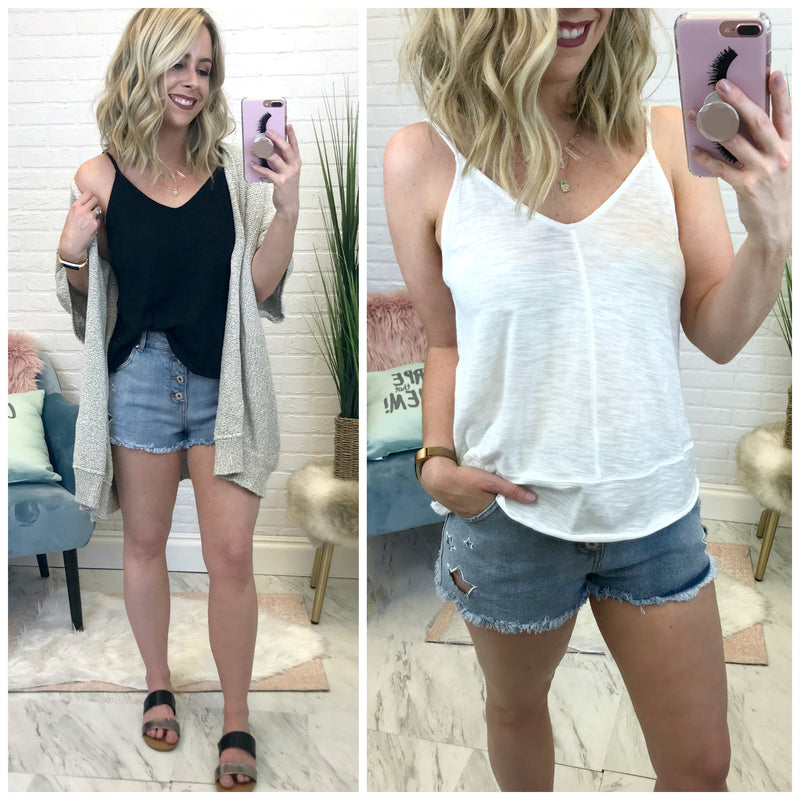 Flowy V-Neck Tank Top - Madison + Mallory