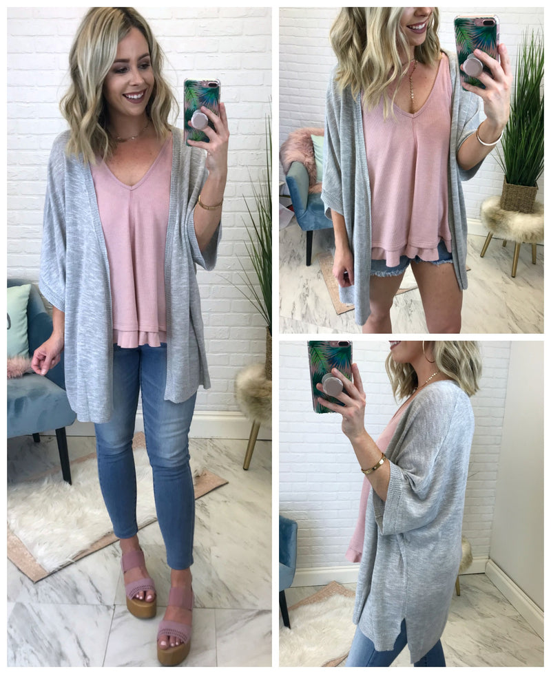 Open Front Knit Cardigan - Madison + Mallory