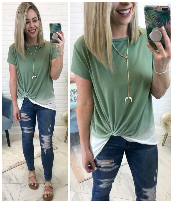 S / Olive Noa Ombre Top - Madison + Mallory