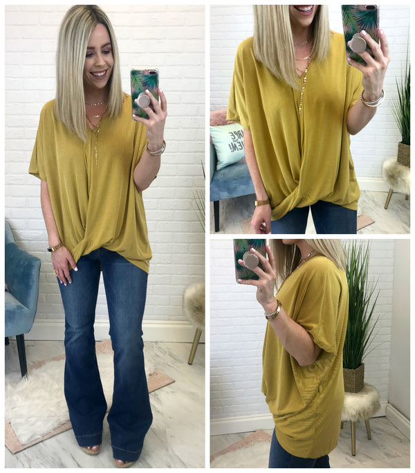 Lea Ribbed V-Neck - Madison + Mallory