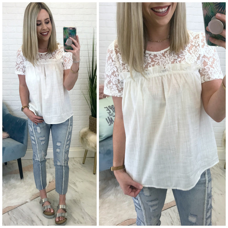 Crazy for You Lace Top - Madison + Mallory