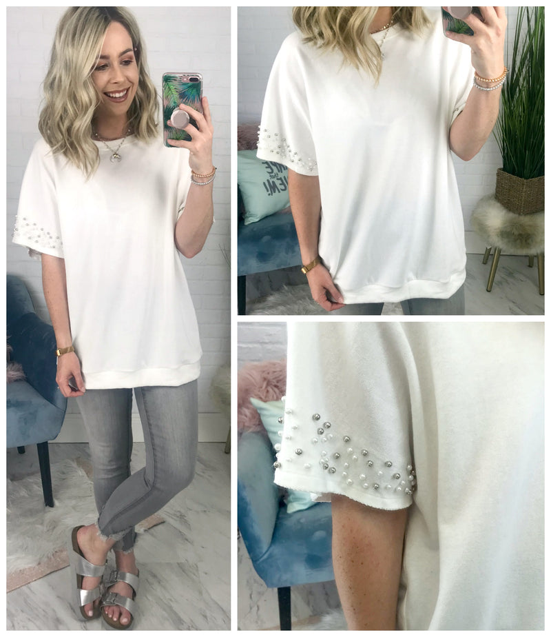 Pearl Sleeve Top - Madison + Mallory