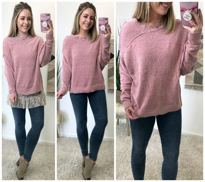 Instant Obsession Chenille Sweater - Madison + Mallory