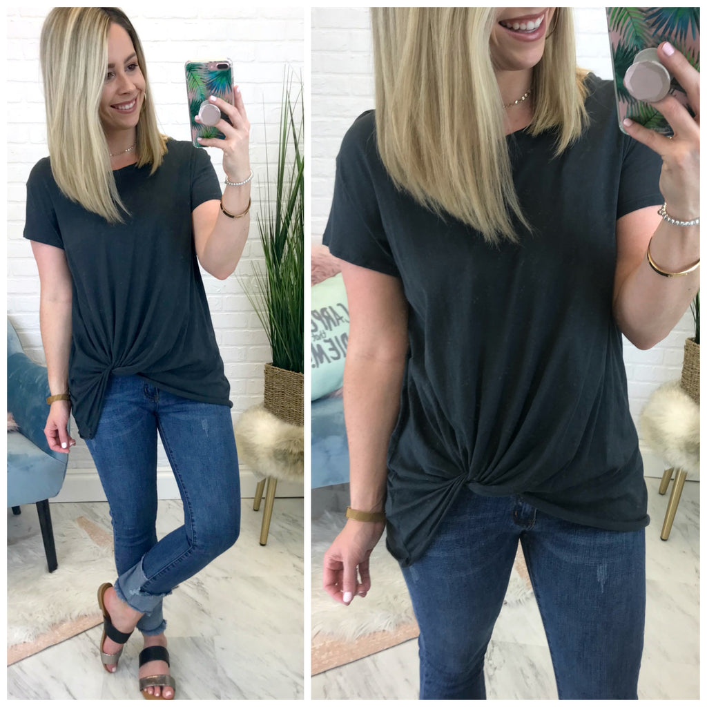 Tenley Knotted Top - Madison + Mallory
