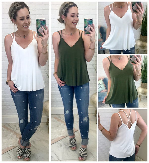 Scalloped Me Crazy Cami - Madison + Mallory