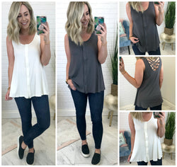 Darcy Cross Tank - Madison + Mallory