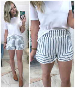 Striped Flowy Shorts - Madison + Mallory