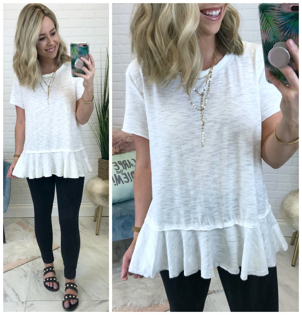 Heather Ruffle Top - Madison + Mallory