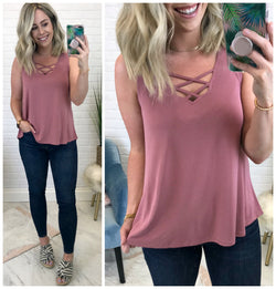 Double Crossed Top - Madison + Mallory