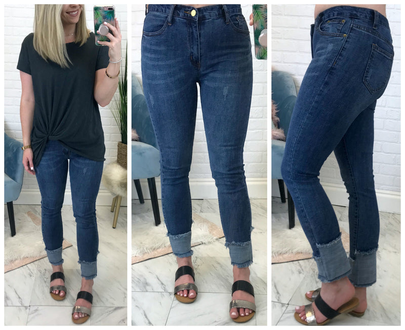 Aiden Distressed Jeans - Madison + Mallory