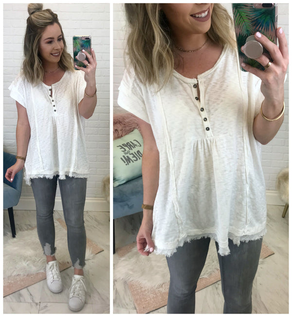 S / Ivory Alaia Henley - Madison + Mallory