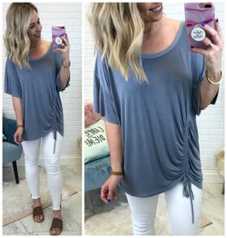 Della Drawstring Top - Madison + Mallory