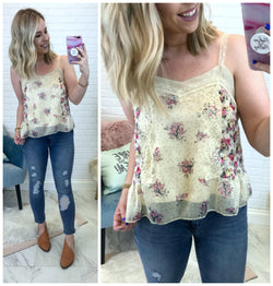 Cecilia Floral Mix Cami - Madison + Mallory