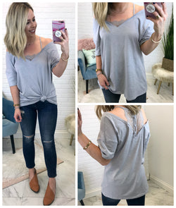 Peekaboo Lace Cold Shoulder Top - Madison + Mallory