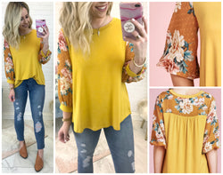 All My Wishes Floral Top - Madison + Mallory