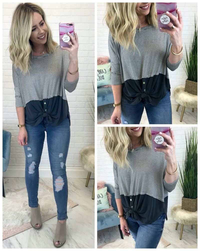 Amara Color Block Top - Madison + Mallory