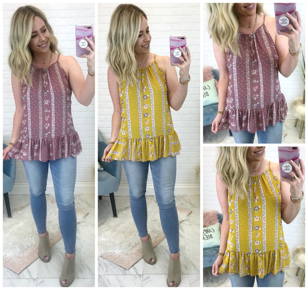 Delaney Floral Top + MORE COLORS - Madison + Mallory