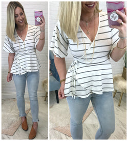 Aileen Striped Top - Madison + Mallory