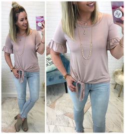 Ruffle Tie Top - Madison + Mallory