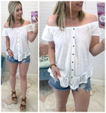 Bennett Off Shoulder Top - Madison + Mallory