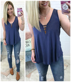 Maggie Ribbed V-neck Tank - Madison + Mallory