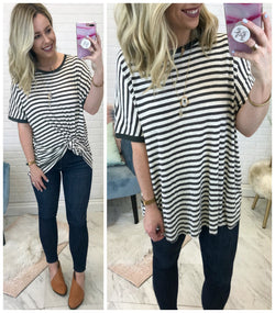 Saylor Striped Top - Madison + Mallory