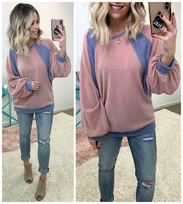 All I Ask of You Color Block Dolman Top - Madison + Mallory