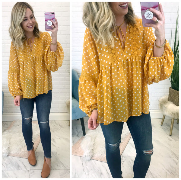 Kyla Polka Dot Top - Madison + Mallory