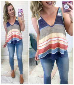 Hattie Striped Swing Tank - Madison + Mallory